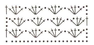схема ажурного топа